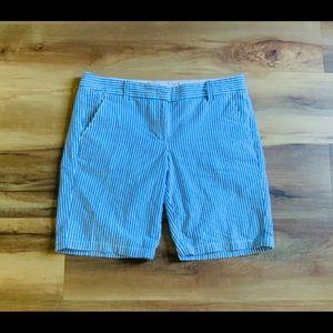 J. CREW❤️Seersucker Bermuda Shorts!❤️Like New!